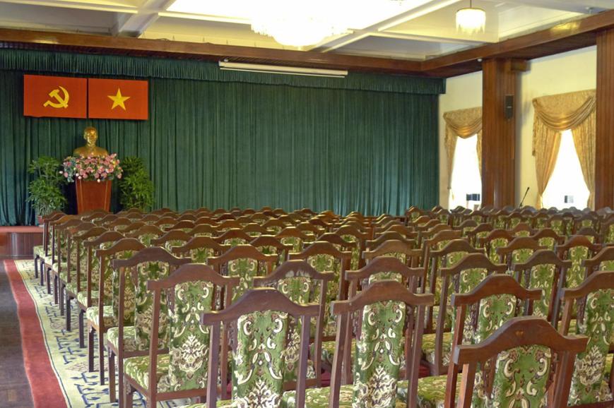 Sala en el antiguo palacio presidencial