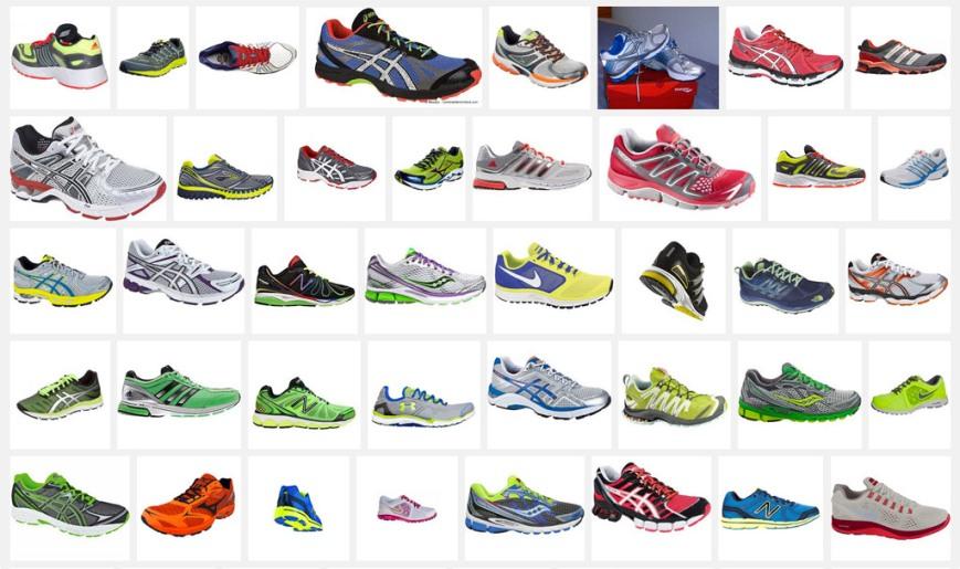 Muestrario zapatillas deportivas