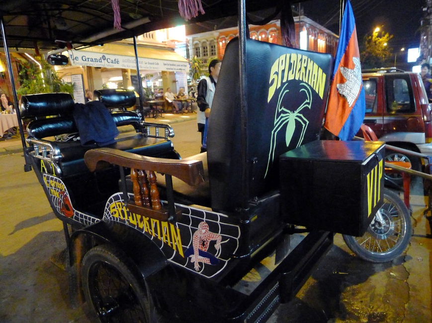 Tuc tuc de Spiderman
