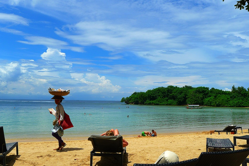 La playa de Bali